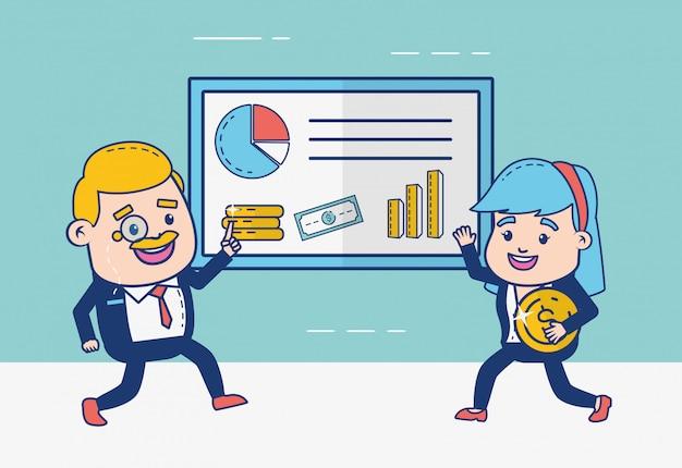 Gens de banque en ligne