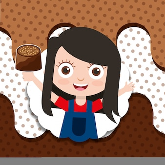 Gens bonbons au chocolat
