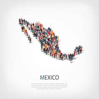 Les gens carte pays mexique