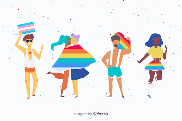 Les gens célèbrent la fête de la fierté