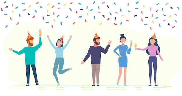 Les gens célèbrent leur anniversaire.