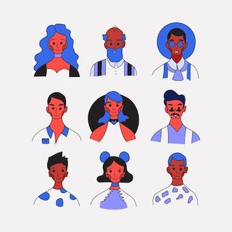 Les gens de la collection d'avatars de profil d'occupation différente.