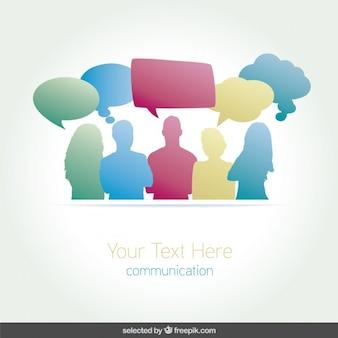 Les gens de conversation infographie