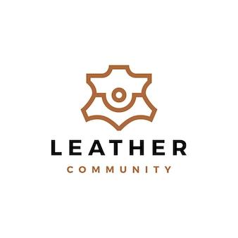 Les gens en cuir équipe communauté famille ensemble logo icône vector illustration
