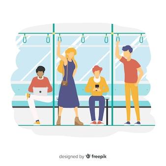 Les gens dans le métro