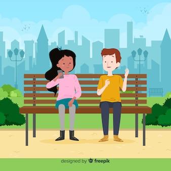 Les gens dans le parc pendant leur temps libre