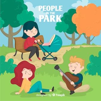 Gens dans le parc