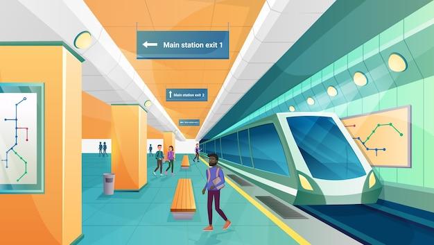 Gens dans la station de métro métro