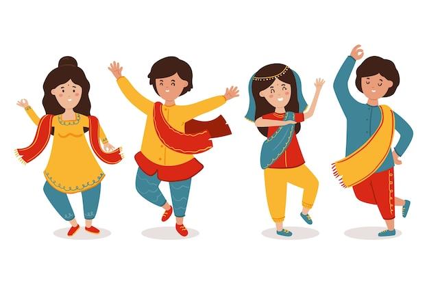 Les gens dansent ensemble bollywood
