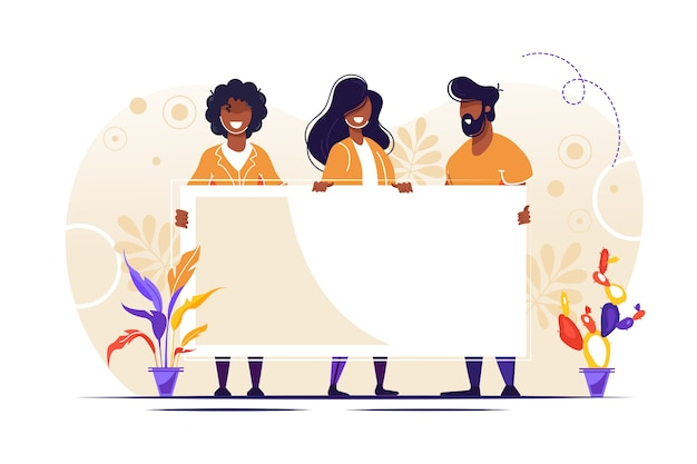 Gens, debout, illustration