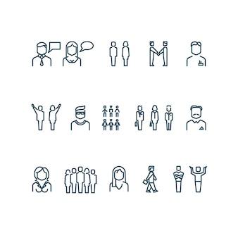 Les gens décrivent des icônes vectorielles