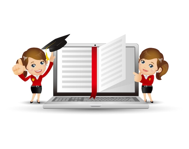Les gens définissent le concept d'apprentissage en ligne