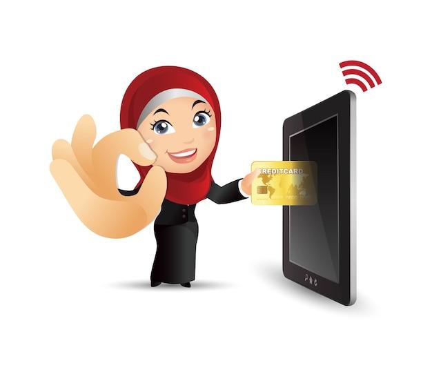 Les gens définissent l'illustration des paiements mobil