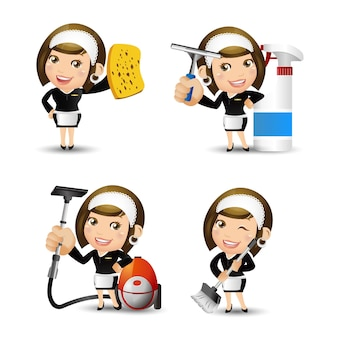 Les gens définissent la profession de femme de ménage