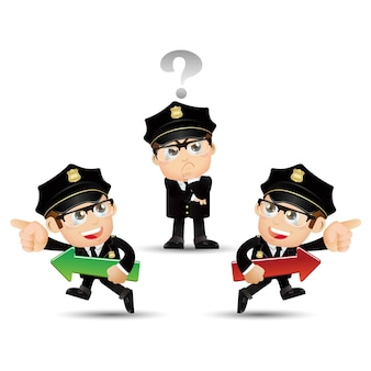 Les gens définissent la profession de policier