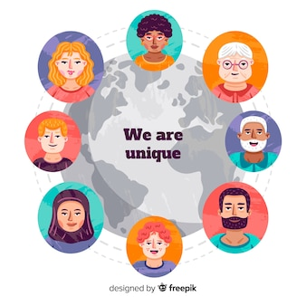 Des gens de différentes cultures et races