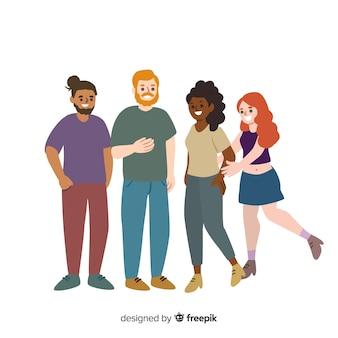 Des gens de différentes races et cultures