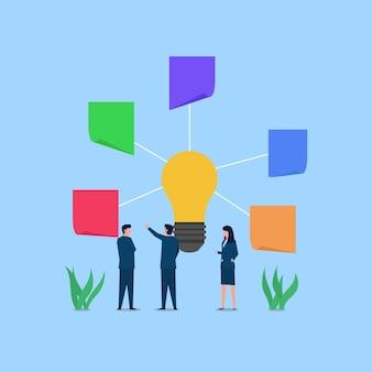 Les Gens Discutent De L'idée De Terminer La Tâche Vecteur Premium