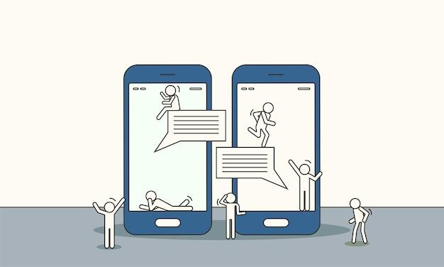 Les gens discutent en ligne