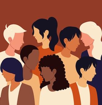 Les gens du groupe de la diversité
