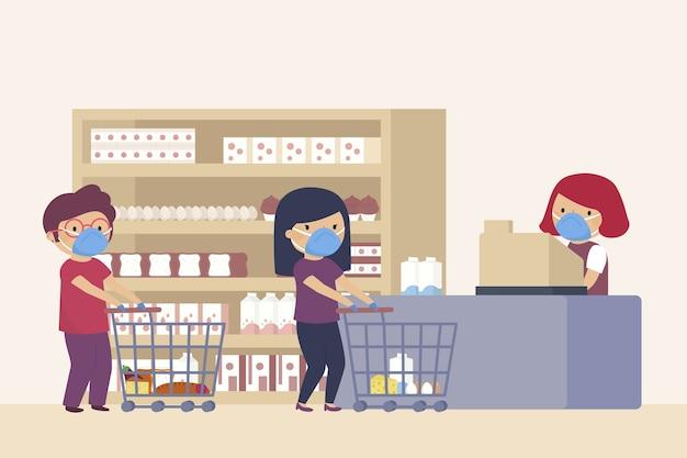 Les gens du shopping dans supermaket
