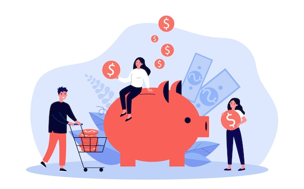 Les gens économisent de l'argent
