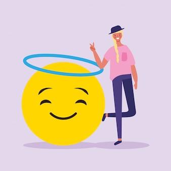 Les gens et les emojis