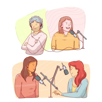 Les gens enregistrent et écoutent des podcasts