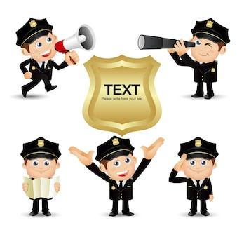 Gens ensemble profession policier