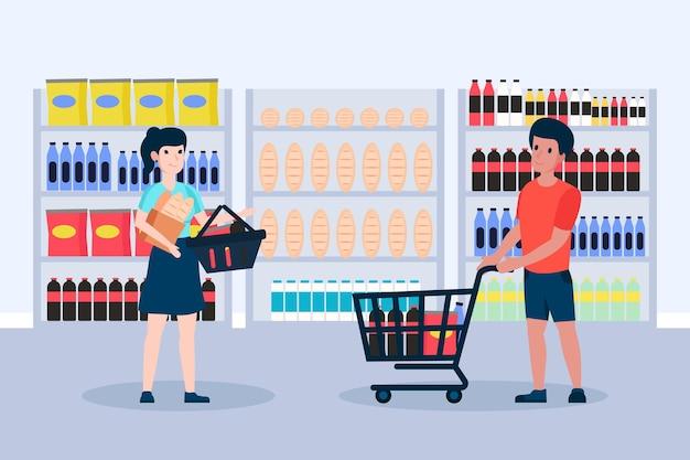 Gens, faire l'épicerie