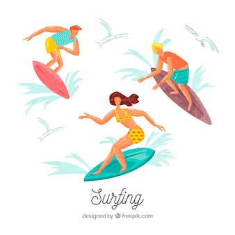 Les gens font des activités de plein air de loisirs