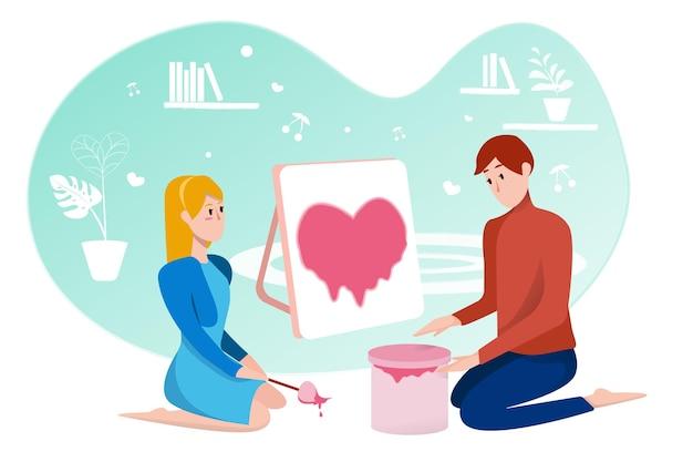 Les gens avec un grand cœur et de l'amour sont un symbole de la fête