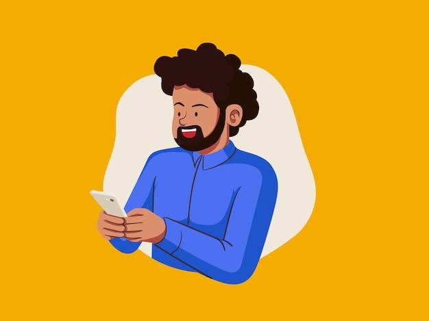Gens heureux, bavarder, illustration
