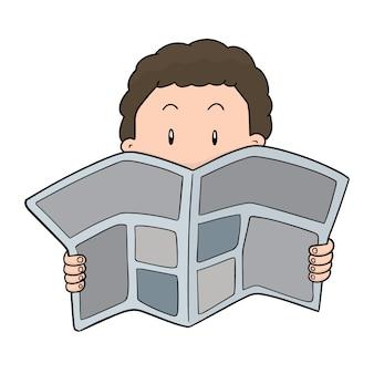 Gens lisant le journal
