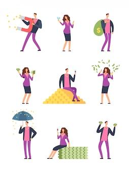 Les gens de luxe riches dépensent de l'argent