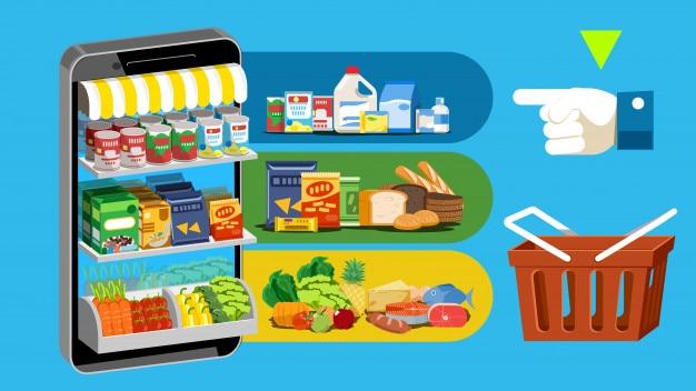 Les gens magasinent en ligne avec la technologie d'application sociale