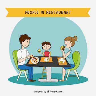 Les gens en milieu de restauration