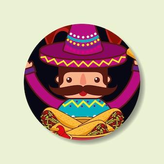 Gens nourriture mexicaine