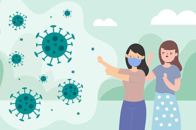 Les gens ont peur de la maladie à coronavirus