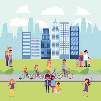 Gens parc et ville