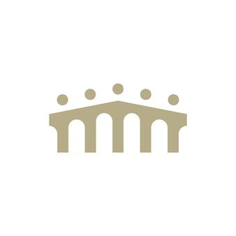 Les gens pont groupe cinq 5 communauté famille connexion équipe travail construction logo icône vecteur illustration
