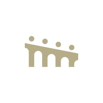 Les gens pont groupe quatre 4 communauté famille connexion équipe travail construction logo icône vecteur illustration