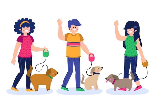 Gens promener le chien
