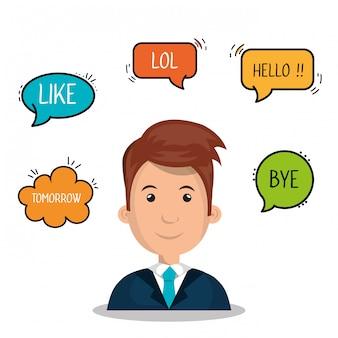 Les gens qui communiquent