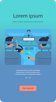 Les gens qui écoutent de la musique en voyageant en voiture