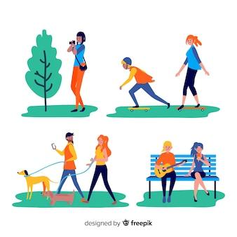 Les gens qui font des activités en plein air