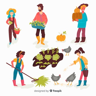 Les gens qui font de l'agriculture