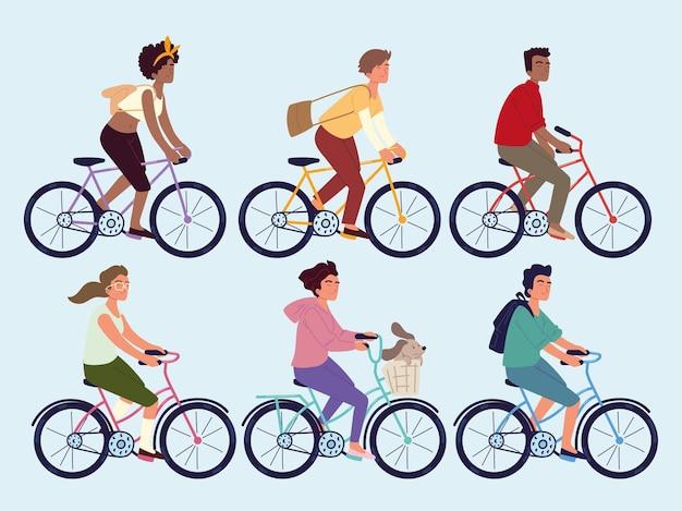 Les gens qui font du vélo