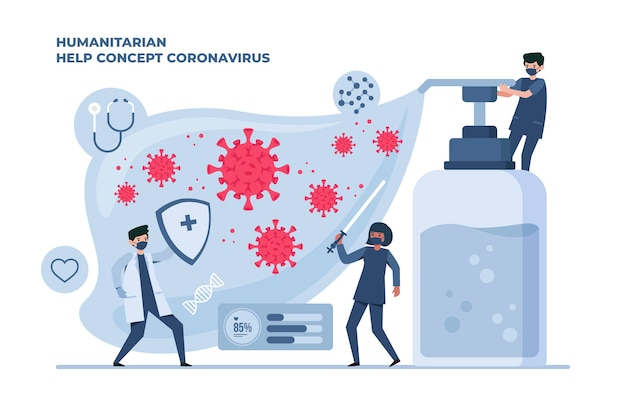 Les gens qui luttent contre le coronavirus