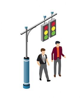 Les gens qui marchent dans la rue